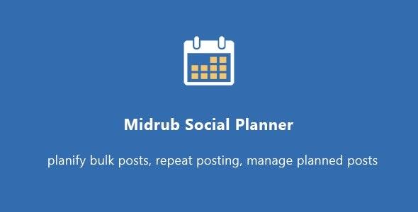 Midrub Social Planner - planify your social life