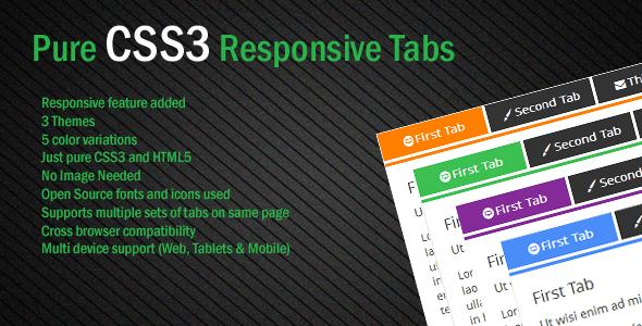 Pure CSS3 Responsive Tab
