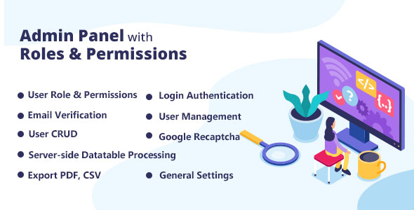 Admin Panel with Roles & Permissions