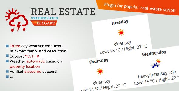 Real Estate Weather Widget