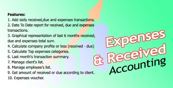 Expenses And Received Management System