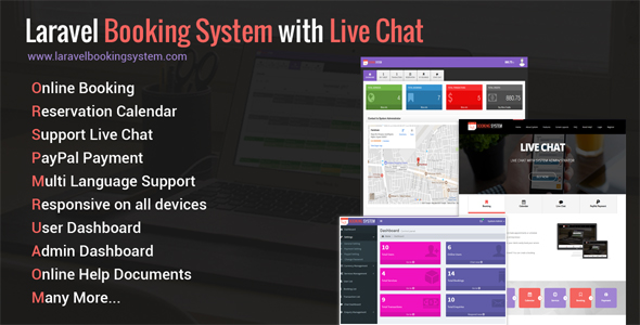 Laravel Booking System with Live Chat - Appointment Booking Calendar