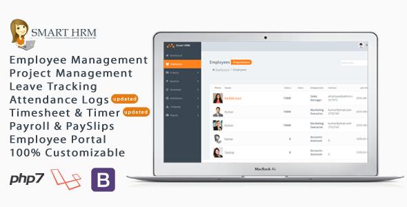 Smart HRM - HR Management with Project Management