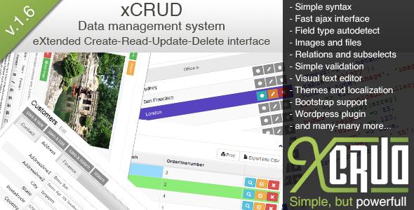 xCRUD  - Data Management System (PHP CRUD)