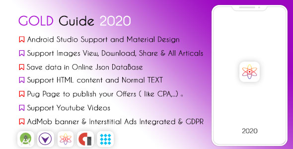 Gold Guide 2021 - High Features & AdMob