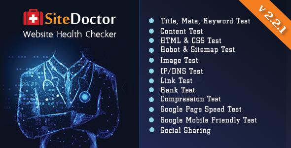 SiteDoctor - A XeroSEO Add-on : Website Health Checker