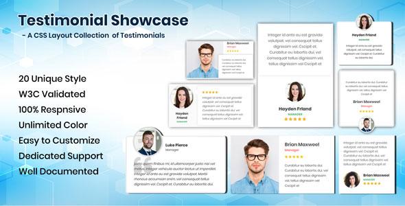 Testimonials CSS Showcase