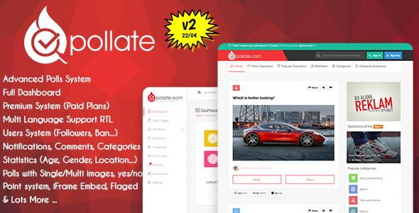 Pollate - Premium Polls and Voting Platform