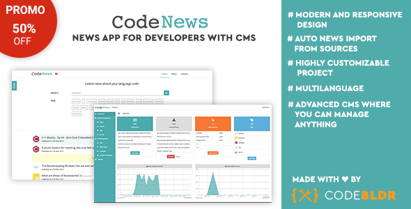 Code News - News Web App for Developers with CMS