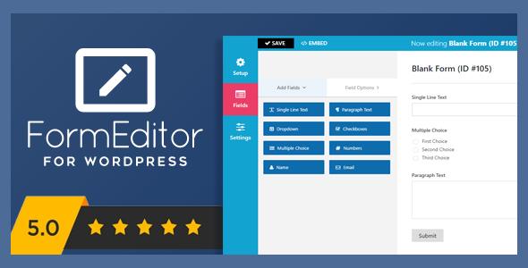 FormEditor - Pro WordPress Form Builder