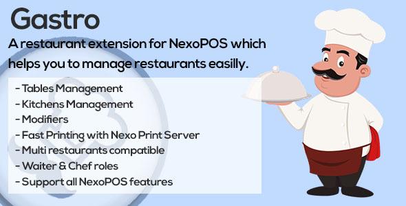 Gastro - Restaurant Extension for NexoPOS 3.x