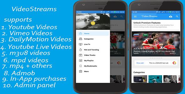 VideoStreams -supports vimeo