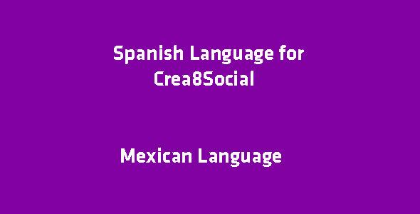 Spanish Language for Crea8Social