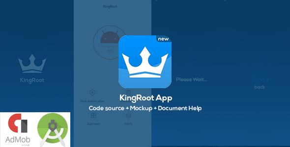KingRoot Prank app - Source Code + 3 PSD Mockup for Screenshots