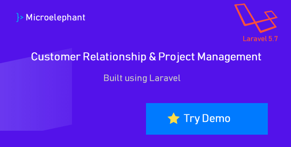 Microelephant - CRM & Project Management System built with Laravel
