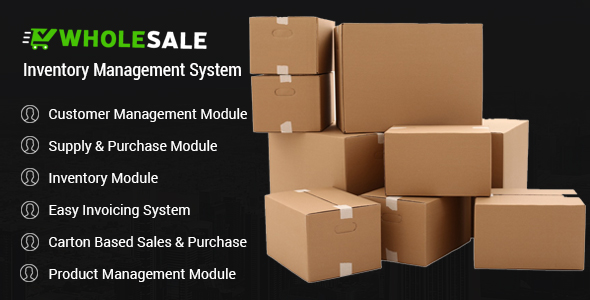 Wholesale - Inventory Control and Inventory Management System