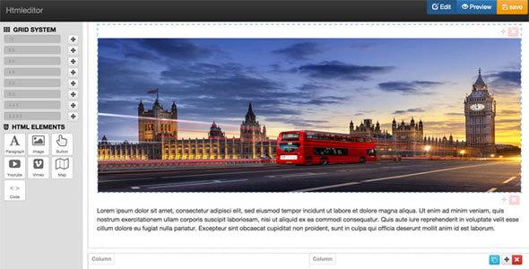 Drag & drop web page html content builder