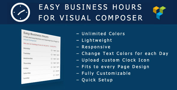 Easy Business Hours Addon for Visual Composer