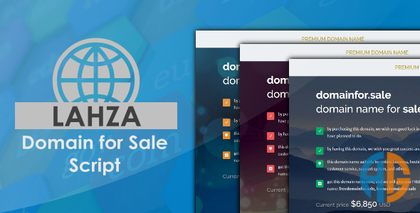 Lahza - Domain For Sale Script