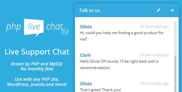 Customer Chat - PHP Live Support Chat Lite