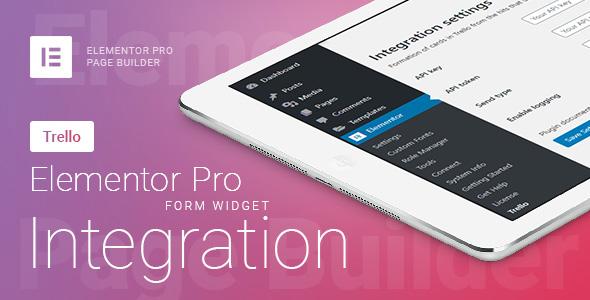 Elementor Pro Form Widget - Trello - Integration