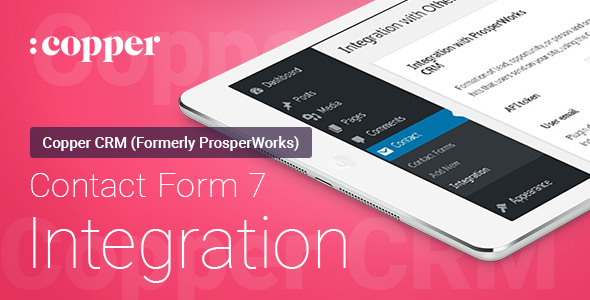 Contact Form 7 - ProsperWorks (Copper) CRM - Integration