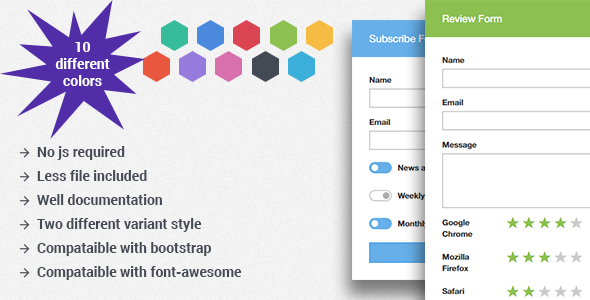 MK Form - Flat Bootstrap Forms