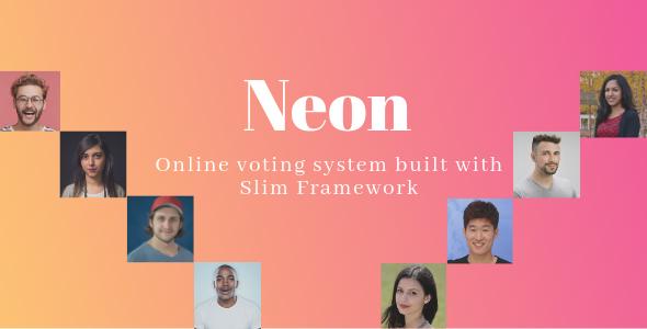 Neon - Online Voting System built with Slim Framework