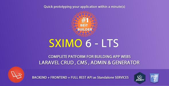 Laravel Multi Purpose Application - CRUD - CMS - Sximo 6
