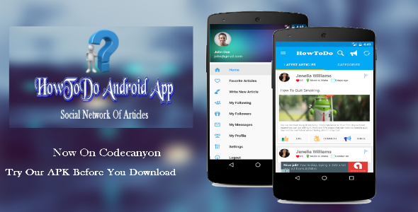 HowToDo Android App :- Social Network of Articles