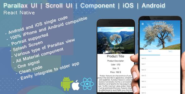 React native Parallax UI   Scroll view