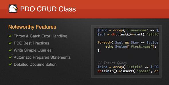 PDO CRUD Class