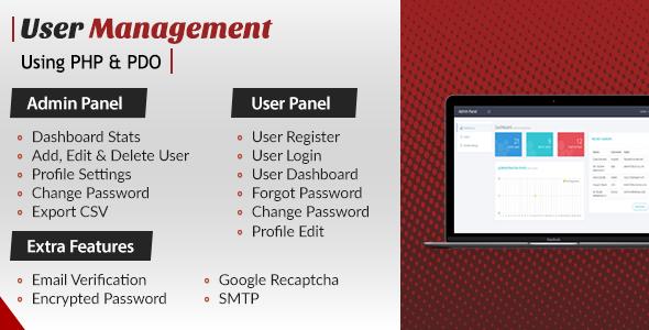 User Login Register and User Management