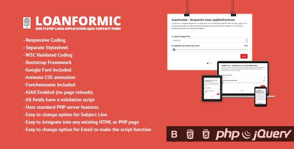 LoanFormic - Multi-step Loan Application Ajax Contact Form