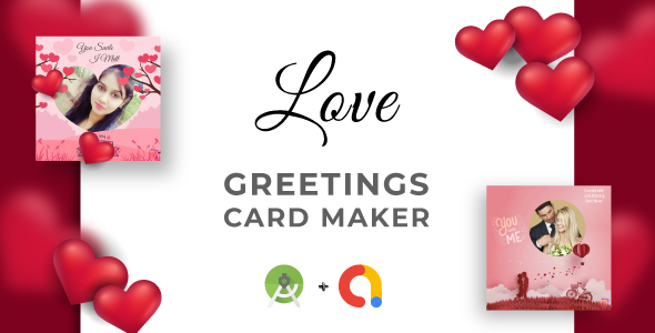 Love Greetings Card Makers & Calculator | Full Application Code | Admob Integrated | Android Studio