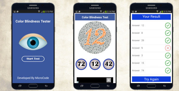 Color Blindness Tester - Android App