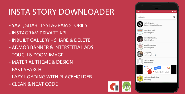 Insta Story Downloader Android App with Admob Integration