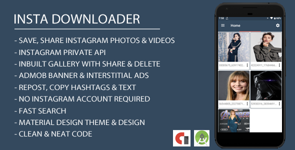 Insta Downloader App with Admob Integration