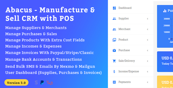 Abacus - Manufacture & Sale CRM with POS