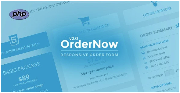 OrderNow - Responsive PHP Order Form
