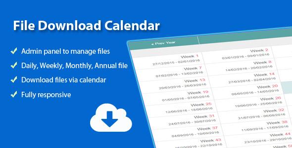 File Download Calendar