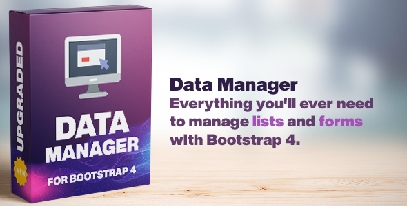 Data Manager: Tables & Forms handler for Bootstrap 4