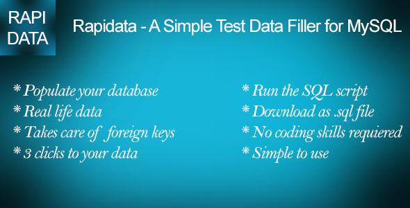 Rapidata - A Simple Test Data Filler for MySQL