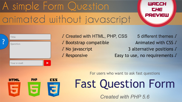 Fast Question Form