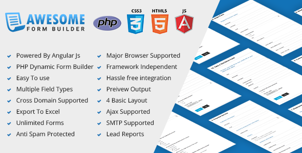Awesome - Angular JS form builder PHP