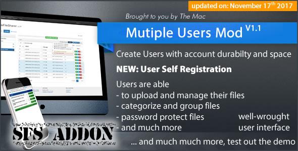 Multiple Users Mod - A Simple File Sharer Module (Addon)