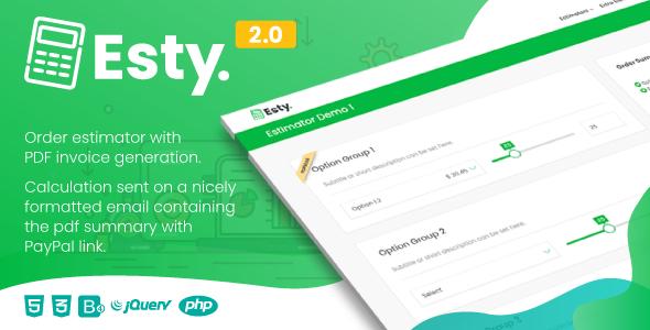 Esty | Order Estimator and PDF Summary Generator