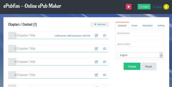 ePubFan - Online ePub Maker
