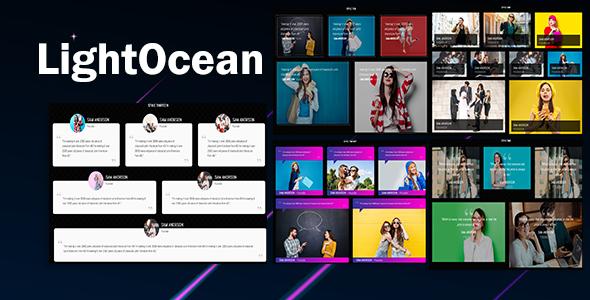 LightOcean - Testimonial Cards Showcase HTML5
