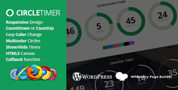 CircleTimer - Addon for WPBakery Page Builder